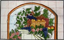 DECORATIVE CERAMIC TILES: LARGE MOSAIC HOME KITCHEN BACK SPLASH MURAL WALL ART
