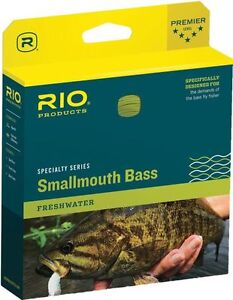 RIO SMALLMOUTH BASS WF-6-F #6 WEIGHT FORWARD FLOATING FLY LINE BRONZE BEIGE