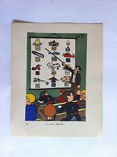 Le Nouvel Alphabet SANSTICKETS Dessin illustration POL FERJAC HUMOUR 1942