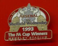 Danbury Enamel Pin Badge Arsenal Football Club League Cup Winners 1993 (Replay)