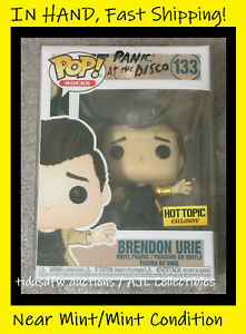 Funko Pop! Rocks Panic at the Disco Brendon Urie Hot Topic Excl. +Protector MINT