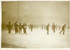 Paris décembre 1913, patinage au vélodrome Buffalo Vintage silver print,Le vél
