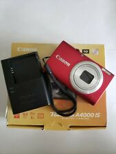 Canon PowerShot A4000 IS 16.0MP Digital Camera - Red