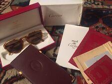Authentic NOS Vintage Cartier Sunglasses Jaspe Miel Dor  New In Box 130mm