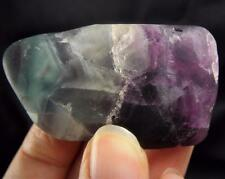 Rainbow Chevron Fluorite Stone Tumble Mineral Rock Crystal Chakra Heal Gemstone