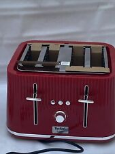TEFAL Loft 4 Slot Four Slice Toaster in Cherry Red TT60540 with Wide Slots,