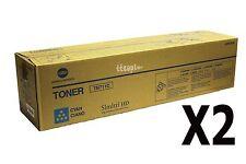 A3VU430 TN711C TN-711C Genuine Konica Minolta Lot Of 2 , Cyan Toner For C654