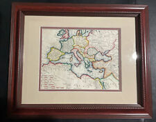 """Old Map of Europe """"Orbis Romanus"""" dated 1797 11""""H x 14""""W"""