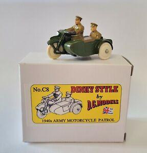 Dinky Scale 1940s Army Motorcycle Patrol metal model