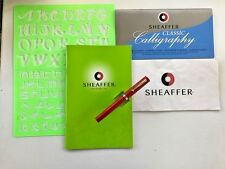 Sheaffer Calligraphy Kit w/ Red No Nonsense Fountain Pen  BOLD Nib See pictures!