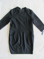 Pendleton 100% Wool Dress- 3/4 Sleeve-Pockets- Lined -Black- Size 18 - NWT $199