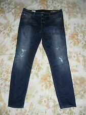 """GAP SIZE 32/14R """"ALWAYS SKINNY"""" FACTORY DISTRESSED JEANS"""