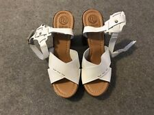 River Island White Leather Wedges