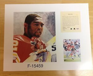 Marcus Allen Kansas City Chiefs NFL11x14 Print Hall Of Fame HOF USC Trojans