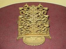 Vintage Brass Desk Letter, Holder, Rack , Stamp Tray