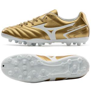 Mizuno Monarcida Neo Select II AG Football Shoes Soccer Cleats Gold P1GA210650