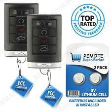Replacement for Cadillac 06-11 DTS 07-09 SRX 08-10 STS Remote Car Key Fob Pair