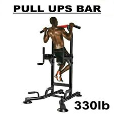 330lb Dip Station Pull Ups Bar Pull Up Power Tower Workout Strength Training Usa