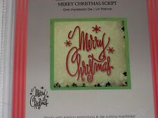"""ULTIMATE CRAFTS """"MERRY CHRISTMAS"""" PHRASE 340916 SCRIPT FOR CARDS & SCRAPBOOKING"""
