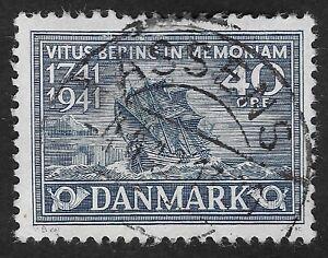 DENMARK  1941 200th Anniversary of the Death of Vitus Bering  40 Ore (HBX)