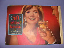 Southern Comfort 100 Proof Liqueur 50 Drinks & Toasts  Recipes Bar Guide c. 1976