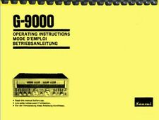 Sansui G-9000 Receiver OWNER'S MANUAL and SERVICE MANUAL