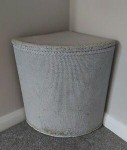 Used Original Vintage Corner Linen Basket Lloyd Loom Style