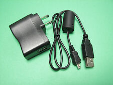 AC Wall Battery Charger IN Camera + USB PC Cable Cord For Olympus VR-340 VR340