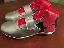 New Under Armour Size 10.5 Football Cleats C1N Red / Silver 1264317-601 Newton