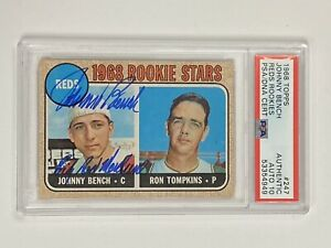 1968 Topps JOHNNY BENCH #247 RC Signed Autograph PSA/DNA 10 AUTO Big Red Machine