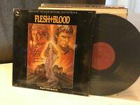 Flesh + Blood OST BASIL POLEDOURIS '85 Varese Sarabande NM SIGNED soundtrack lp!