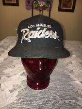 Vintage NWT Los Angeles Raiders Script Snapback Hat  by Sports Specialties NWA