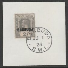 Barbuda 6069 -1922 KG5 2d  on piece with MADAME JOSEPH FORGED POSTMARK