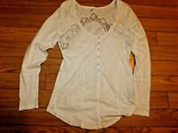 Free People Keepsake Henley Top Shirt size XL