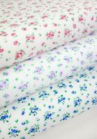 DITSY FLORAL FABRIC POLYCOTTON CRAFT BUNTING PATCHWORK  DRESSMAKING 110CM 43""