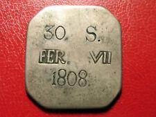 SPANIEN MALLORCA 30 Sous 1808 Silber SS Fernando VII. - Wappen