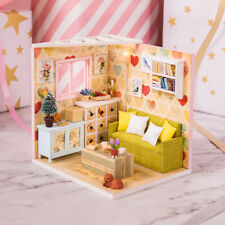Miniature Dollhouse Kit with Furniture and LED Birthday Gifts -Leisure Rest