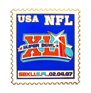 2007 NFL Super Bowl XLI Postage Stamp Pin - Indianapolis Colts