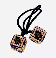 USA DICE Hair Rope Wrap made with Swarovski Crystal Scrunchies Ponytail Holder 1