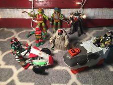 Teenage Mutant Ninja Turtles Lot Figures And Vehicles