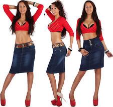 Markenlose knielange Damenröcke aus Baumwolle