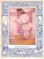 Alice's adventures in Wonderland.Fantasy.1907.Bessie Pease Gutmann.Vintage.Alice