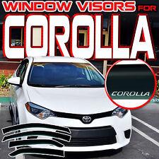 14-17 Corolla E170 Sedan Side Window Visor Vent Shades Guards Deflector w/ Logo