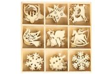 ALBERO di Natale in Legno Ornamenti Decorazioni Laser Cut 45 PEZZI RENNA Star