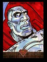 """Superman: The Legend 2013 Cryptozoic DC Comics Sketch Card by Dave """"Pops"""" Tata"""