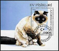 Azerbaijan 1995 Birman Cats S/S Domestic Animals