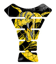 Venom Yellow Snake Skull Motorcycle Gel Gas tank pad tankpad protector Decal
