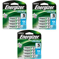 Energizer AAA Rechargeable Batteries 4 Pack 3 Count 12 Batteries