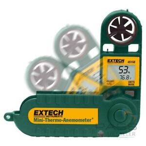 *NEW* Extech 45158 Mini Thermo Anemometer with Humidity + Dual Display / UK