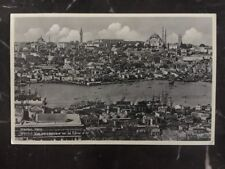 1938 Istanbul Turkey Postcard Cover to Berlin Germany Panoramic View Of Istanbul